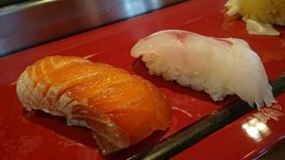 のどぐろとシャケのづけのお寿司